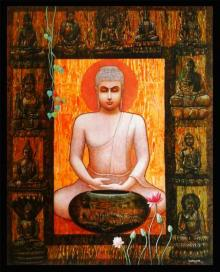Motivational Acrylic Art Painting title 'Buddha II' by artist Ajay Meshram
