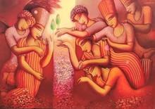 Figurative Acrylic Art Painting title Untitled 1 by artist Samir Sarkar