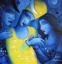 Figurative Acrylic Art Painting title Untitled 2 by artist Samir Sarkar