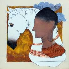 art, painting, mixedmedia, canvas, figurative