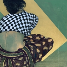 art, painting, acrylic, charcoal, canvas, figurative
