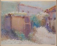 Backyard | Painting by artist Fareed Ahmed | watercolor | Canvas Board