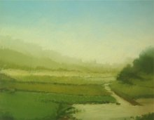 Landscape Oil Art Painting title Landscape 3 by artist Fareed Ahmed