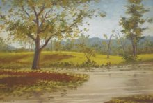 Landscape Oil Art Painting title 'Foliage' by artist Fareed Ahmed