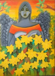 Figurative Acrylic Art Painting title Fairy by artist Sadaf Beg Khan