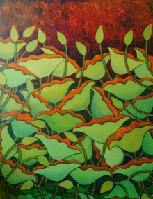 Nature | Painting by artist Sadaf Beg Khan | acrylic | canvas