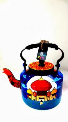 Arabian Nights Tea Kettle | Craft by artist Rithika Kumar | Aluminium