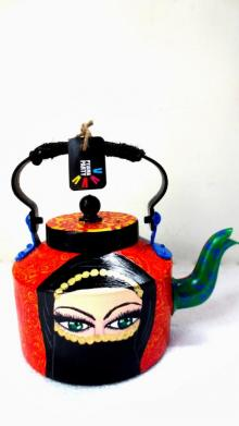 Rithika Kumar | Arabian Lady Tea Kettle Craft Craft by artist Rithika Kumar | Indian Handicraft | ArtZolo.com