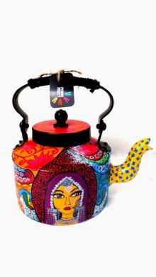Banjaran Beauty Tea Kettle | Craft by artist Rithika Kumar | Aluminium