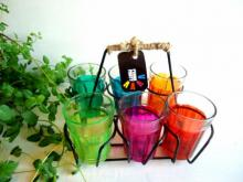 Rithika Kumar | Color Splash Cutting Chai Glasses Craft Craft by artist Rithika Kumar | Indian Handicraft | ArtZolo.com