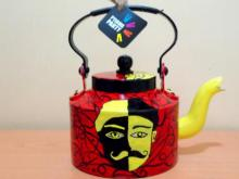 Rithika Kumar | Double Trouble Tea Kettle Craft Craft by artist Rithika Kumar | Indian Handicraft | ArtZolo.com