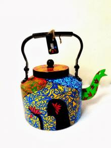Hawaiian Girl Tea kettle | Craft by artist Rithika Kumar | Aluminium