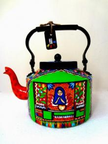 Holy Prayer Tea Kettle | Craft by artist Rithika Kumar | Aluminium