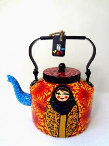 Fatimas Hand Tea Kettle | Craft by artist Rithika Kumar | Aluminium