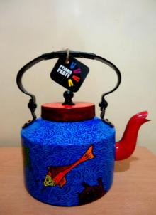 Rithika Kumar | Koi Tea Kettle Craft Craft by artist Rithika Kumar | Indian Handicraft | ArtZolo.com