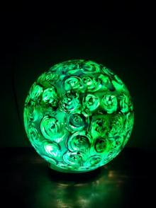 Rithika Kumar | Kiwi Swirl Lollipop Table Lamps Craft Craft by artist Rithika Kumar | Indian Handicraft | ArtZolo.com