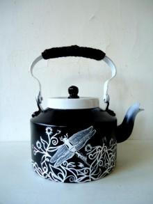 Rithika Kumar | Dragonfly Tea Kettle Craft Craft by artist Rithika Kumar | Indian Handicraft | ArtZolo.com