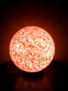 Peach Lollipop Table Lamps | Craft by artist Rithika Kumar | Reinforced Acrylic