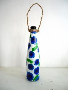 Rithika Kumar | Bottle Planter Lavender Craft Craft by artist Rithika Kumar | Indian Handicraft | ArtZolo.com