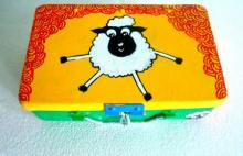 Rithika Kumar | Counting Sheep Trinket Box Craft Craft by artist Rithika Kumar | Indian Handicraft | ArtZolo.com