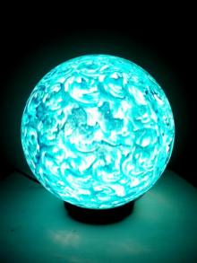 Blue Mint Lollipop Table Lamps | Craft by artist Rithika Kumar | Reinforced Acrylic