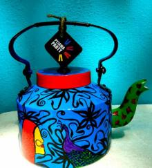 Rithika Kumar | Ethinic India Tea Kettle Craft Craft by artist Rithika Kumar | Indian Handicraft | ArtZolo.com