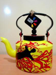 Rithika Kumar | Free Fall Tea kettle Craft Craft by artist Rithika Kumar | Indian Handicraft | ArtZolo.com