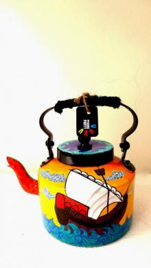 Sailing Tea Kettle | Craft by artist Rithika Kumar | Aluminium