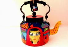 Rithika Kumar | Veiled Woman Tea Kettle Craft Craft by artist Rithika Kumar | Indian Handicraft | ArtZolo.com