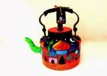 Rithika Kumar | Whimsical Palace Tea Kettle Craft Craft by artist Rithika Kumar | Indian Handicraft | ArtZolo.com