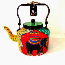 Elephant Tales Tea Kettle | Craft by artist Rithika Kumar | Aluminium