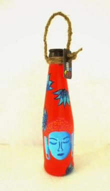 Rithika Kumar | Bottle Planter Shades Of Buddha Vermillion Craft Craft by artist Rithika Kumar | Indian Handicraft | ArtZolo.com