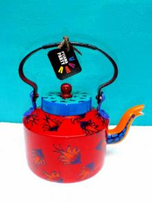 Rithika Kumar | Floating Flowers Tea Kettle Craft Craft by artist Rithika Kumar | Indian Handicraft | ArtZolo.com