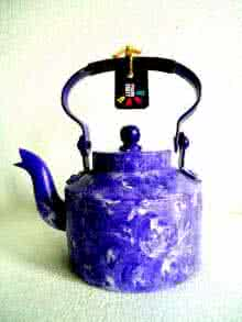 Rithika Kumar | Purple Rain Textured Tea Kettle Craft Craft by artist Rithika Kumar | Indian Handicraft | ArtZolo.com