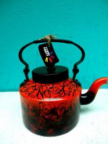 Rustic Tea Kettle | Craft by artist Rithika Kumar | Aluminium