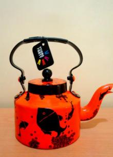 Something fishy Tea Kettle | Craft by artist Rithika Kumar | Aluminium