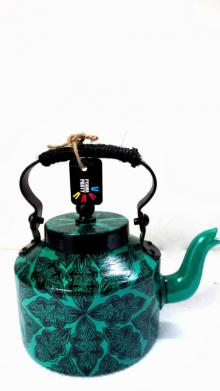 Traditional Arabesque Tea Kettle | Craft by artist Rithika Kumar | Aluminium