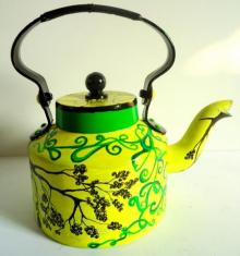 Tree Of Life Tea Kettle | Craft by artist Rithika Kumar | Aluminium