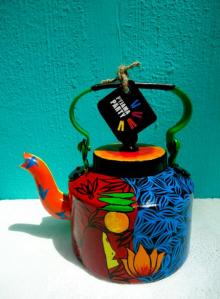 Voodoo Love Tea Kettle | Craft by artist Rithika Kumar | Aluminium