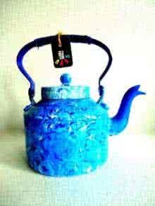 Rithika Kumar | Whirlpool Textured Tea Kettle Craft Craft by artist Rithika Kumar | Indian Handicraft | ArtZolo.com