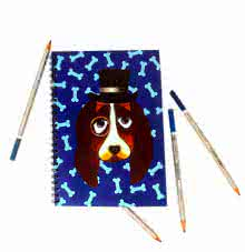 Basset Hound Notebook | Craft by artist Rithika Kumar | Paper