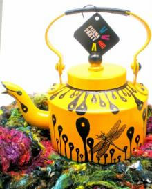 Rithika Kumar | Hand Yellow Tea Kettle Craft Craft by artist Rithika Kumar | Indian Handicraft | ArtZolo.com