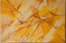 Impressionist Oil Art Painting title 'Sands The Undulating And Dancing Dunes' by artist Bhawna Jotshi