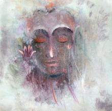Religious Acrylic Art Painting title 'Buddha' by artist AYAAN GROUP