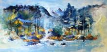 AYAAN GROUP Paintings | Landscape Painting - Serene by artist AYAAN GROUP | ArtZolo.com