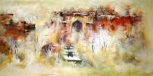 AYAAN GROUP Paintings | Landscape Painting - Ancient Building by artist AYAAN GROUP | ArtZolo.com