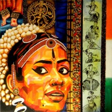 Vidhi Shah | Dscn8701 Mixed media by artist Vidhi Shah on Jute | ArtZolo.com