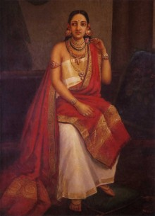 Feigned Arrogance | Painting by artist Raja Ravi Varma Reproduction | oil | Canvas
