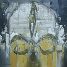 Abstract Acrylic Art Painting title Kedarnath by artist Sunil Bambal