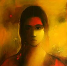 Figurative Acrylic Art Painting title 'Sunshine' by artist Sachin Sagare